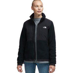 North face classic black fleece zip up medium